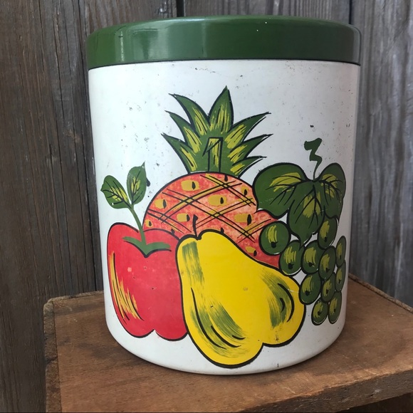 Vintage Other - Lacquer Ware Canister